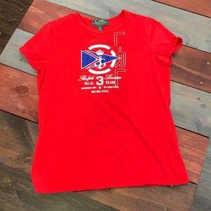3 FOR $20 Lauren Ralph Lauren Red Logo T-Shirt PM